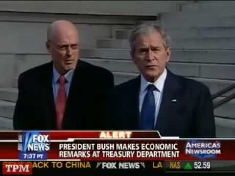 President Bush Statement on Citigroup Bailout