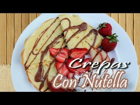 CREPAS CON NUTELLA Y FRESAS