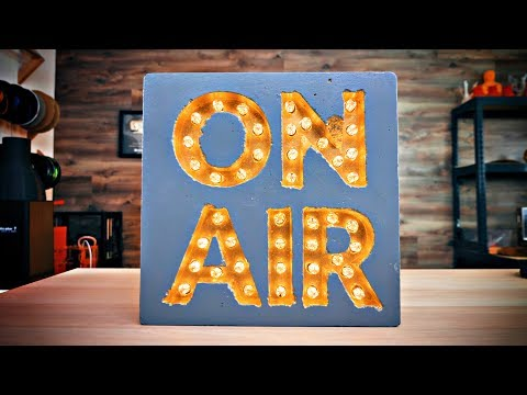 Casting the ON AIR sign with 3D printed molds!