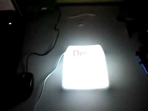 Светильник в виде клавиш Ctrl, Shift и Del