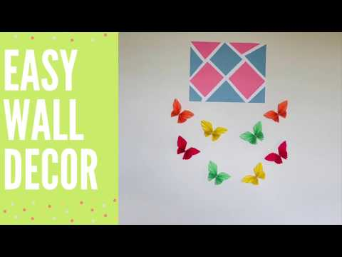 DIY: Easy wall decor |Using craft/color paper |Make at home |Bubble Dream