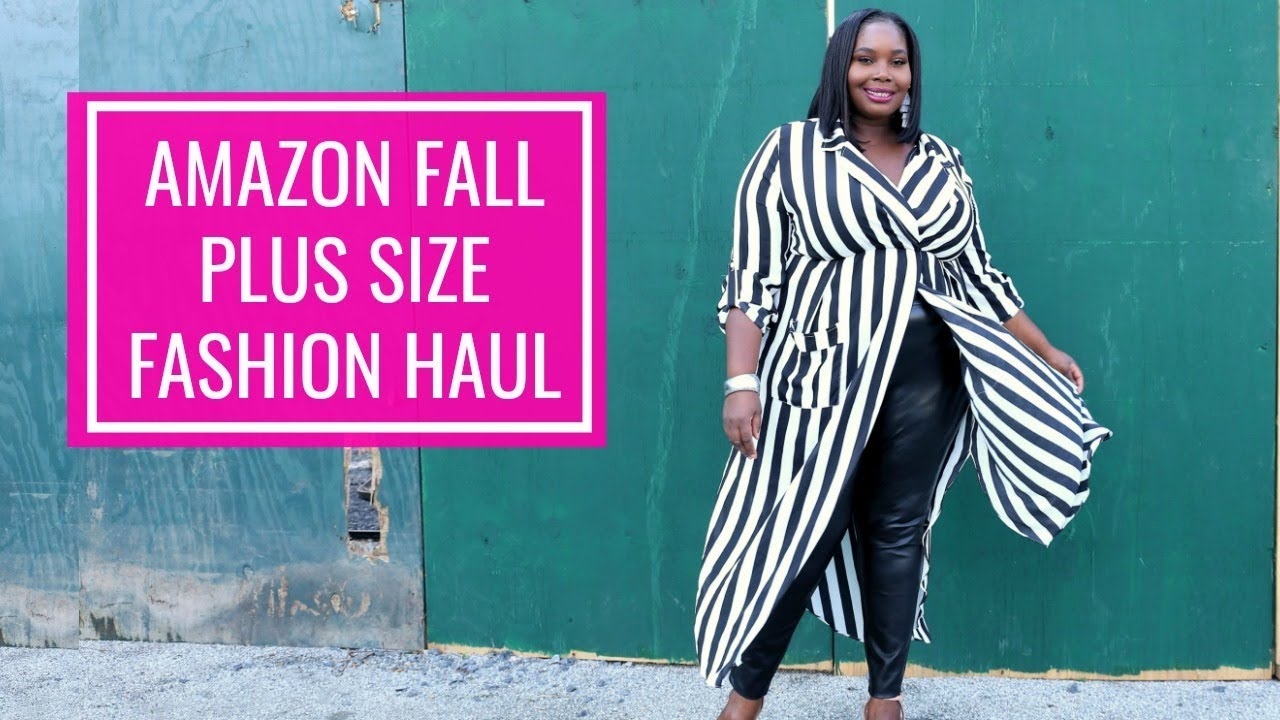 605082fd629 Affordable Amazon Plus Size Clothing Haul Fall Fashion 2018 - YouTube