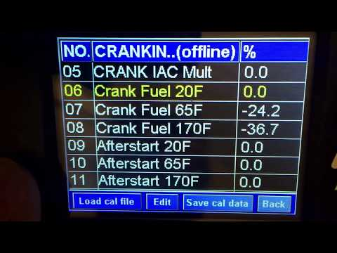 FiTech - Crank fuel and cold/warm starting