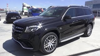 2016 Mercedes-Benz GLS 63 AMG (X166). Start Up, Engine, and In Depth Tour.