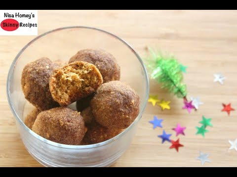 Healthy Christmas Cookies - No Refined Sugar Or Maida - Skinny Recipes - Atta Biscuit Cookies Recipe