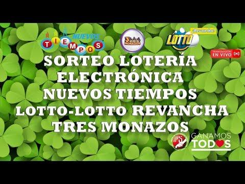 Sorteo N.Tiempos N°17582, Lotto y Lotto Revancha N°1991 y 3 Monazos N°94. 21/12/2019 (Noche)