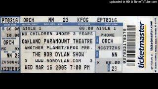 """B. Dylan - """"Tweedle Dee & Tweedle Dum"""" (Paramount Theatre, 3/16/05)"""