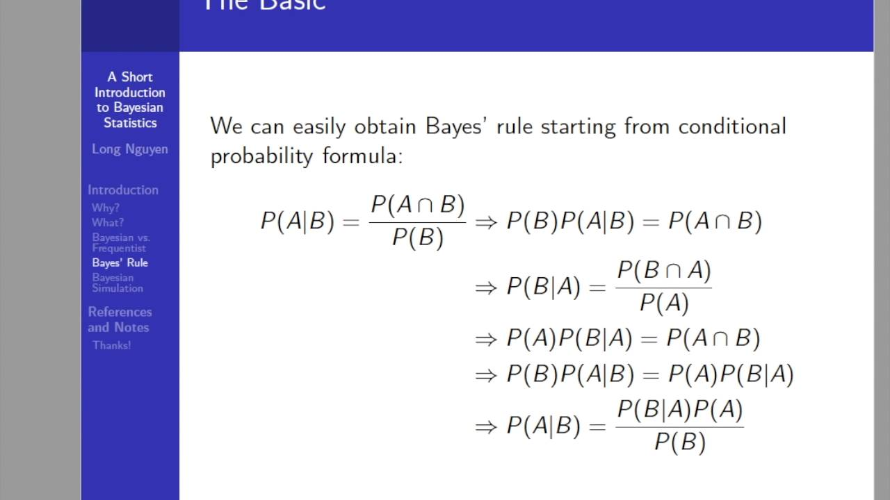 A Short Introduction to Bayesian Statistics