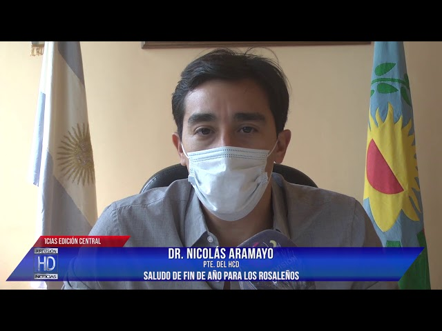 Nicolás Aramayo  saludo de fin de año para los rosaleños