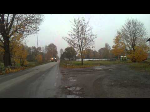 Swedish country road in autumn