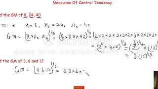 Geometric Mean (Statistics)