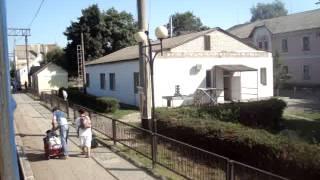Отправление от станции Крыжополь из окна ночного скорого поезда №132/131 Симферополь-Хмельницкий