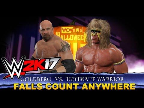 WWE 2K17 - Bloody Gameplay - Goldberg VS  Ultimate Warrior