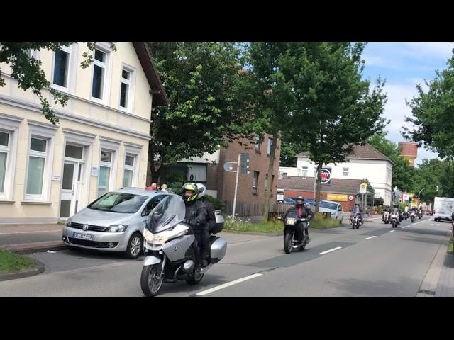 Motorrad Demo Oldenburg am 4. Juli, Rückkehr über Donnerschweer Straße