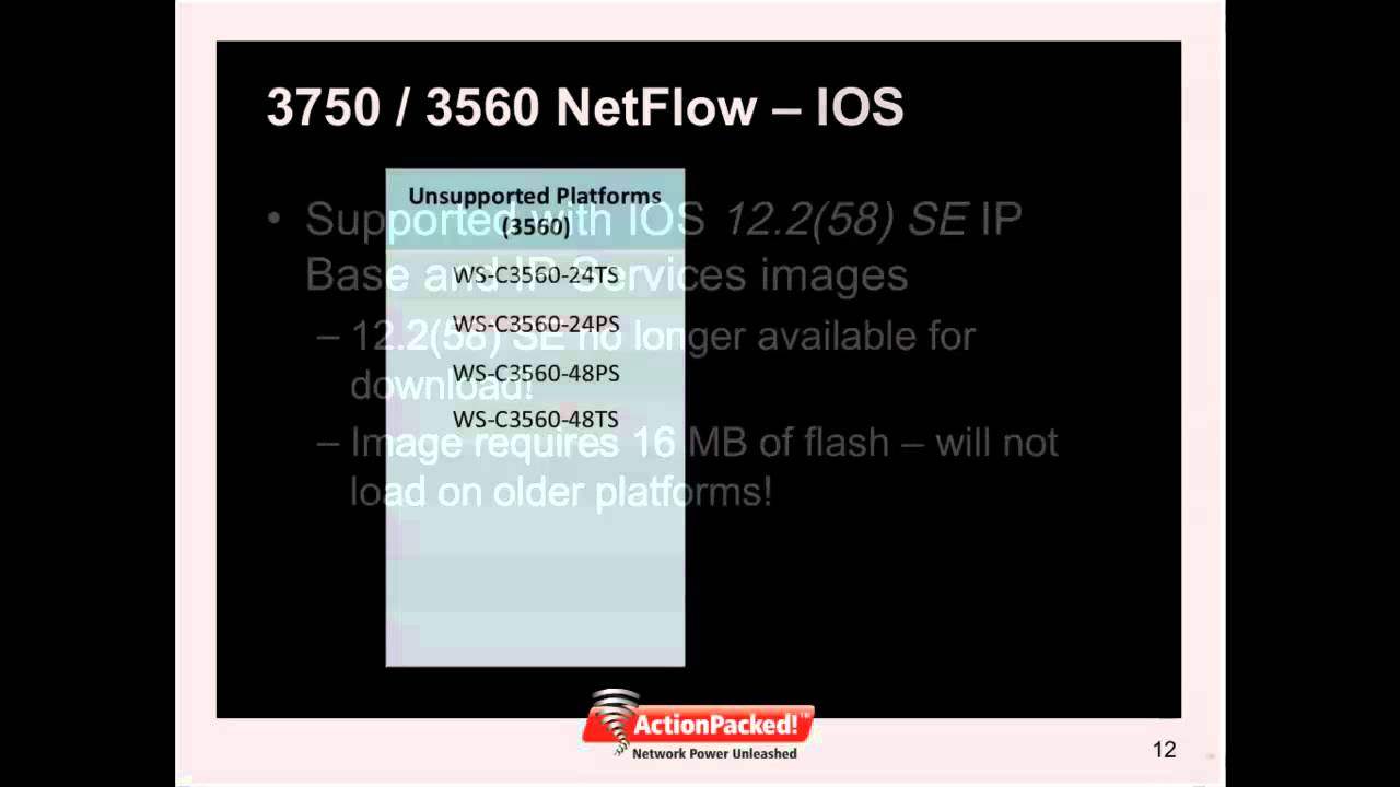 NetFlow and the Cisco Catalyst 3750/3560 - Video 1 of 3: Overview