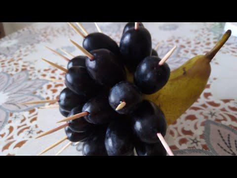 Ёж из фруктов.... Быстро, просто и вкусно.
