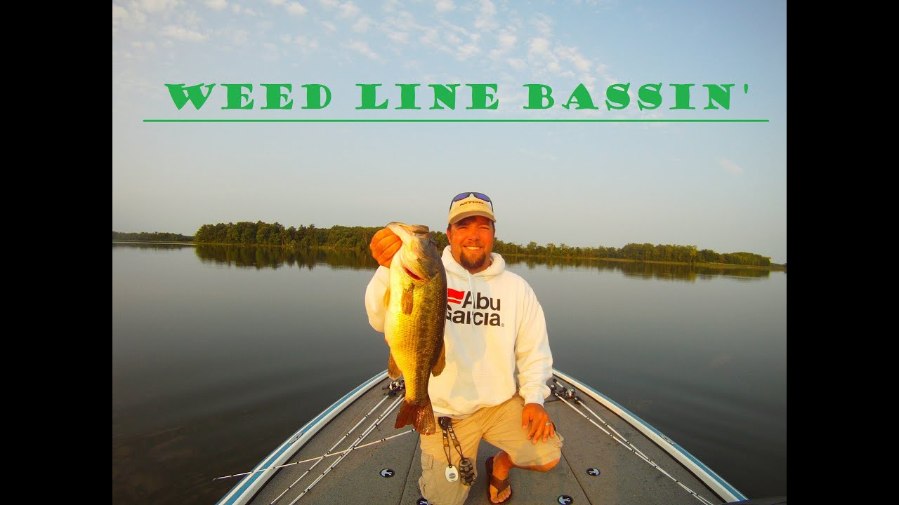 Deep weed line bass fishing youtube for Bass fishing youtube