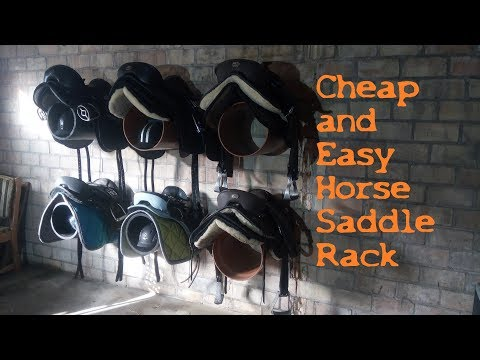 Cheap And Easy DIY Horse Saddle Rack - Quick And Dirty #2