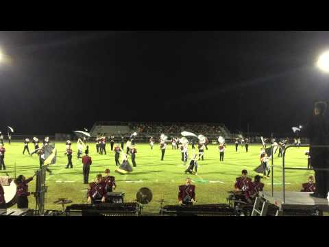 Ethan with Wiregrass Ranch High School band for his first football game.