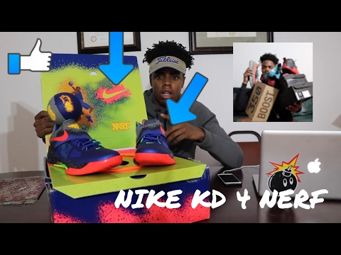 d784f1c617f2 CRAZY NIKE KD 4 NERF REVIEW !!! PICK UP OF THE YEAR!