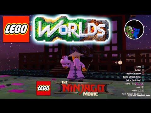 Lego worlds unlocking All  Lego NINJAGO MOVIE  characters Zane ,nya,Lloyd,kai,jay,cole