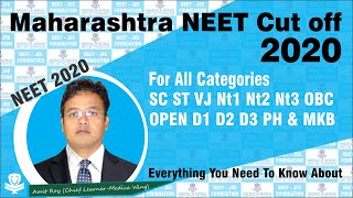 NEET 2020 cut off Maharashtra College wise and category wise | Best Ever Analysis by Medica Wing
