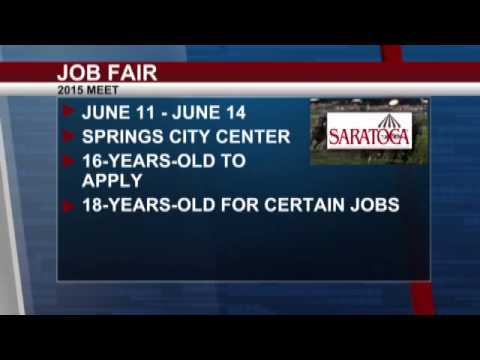 Saratoga Race Course holds job fair for 2015%2