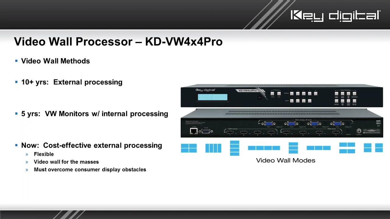 KD-VW4x4Pro - 4x4 Video Wall Processor, Seamless