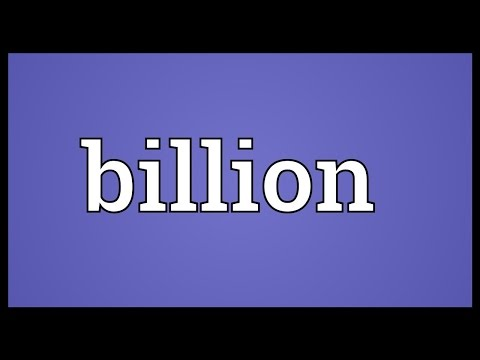 Billion Meaning