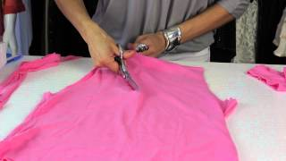 How to Cut Shirts Into Racerback Tanks : Style Savvy