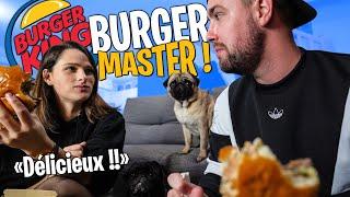 On goûte le Master Auvergnat de chez Burger King avec @Pidi (Il est vraiment trop trop bon !!)