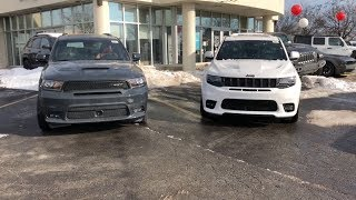 2018 SRT DURANGO VS 2018 SRT GRAND CHEROKEE