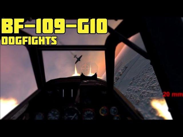 Gunship Sequel: WW2 New Bf-109-G10 High Skill Dogfights (Cinematic)