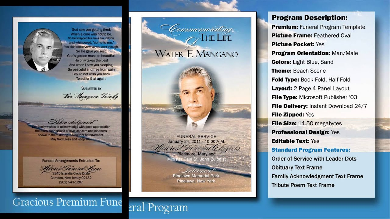 how to make a obituary program