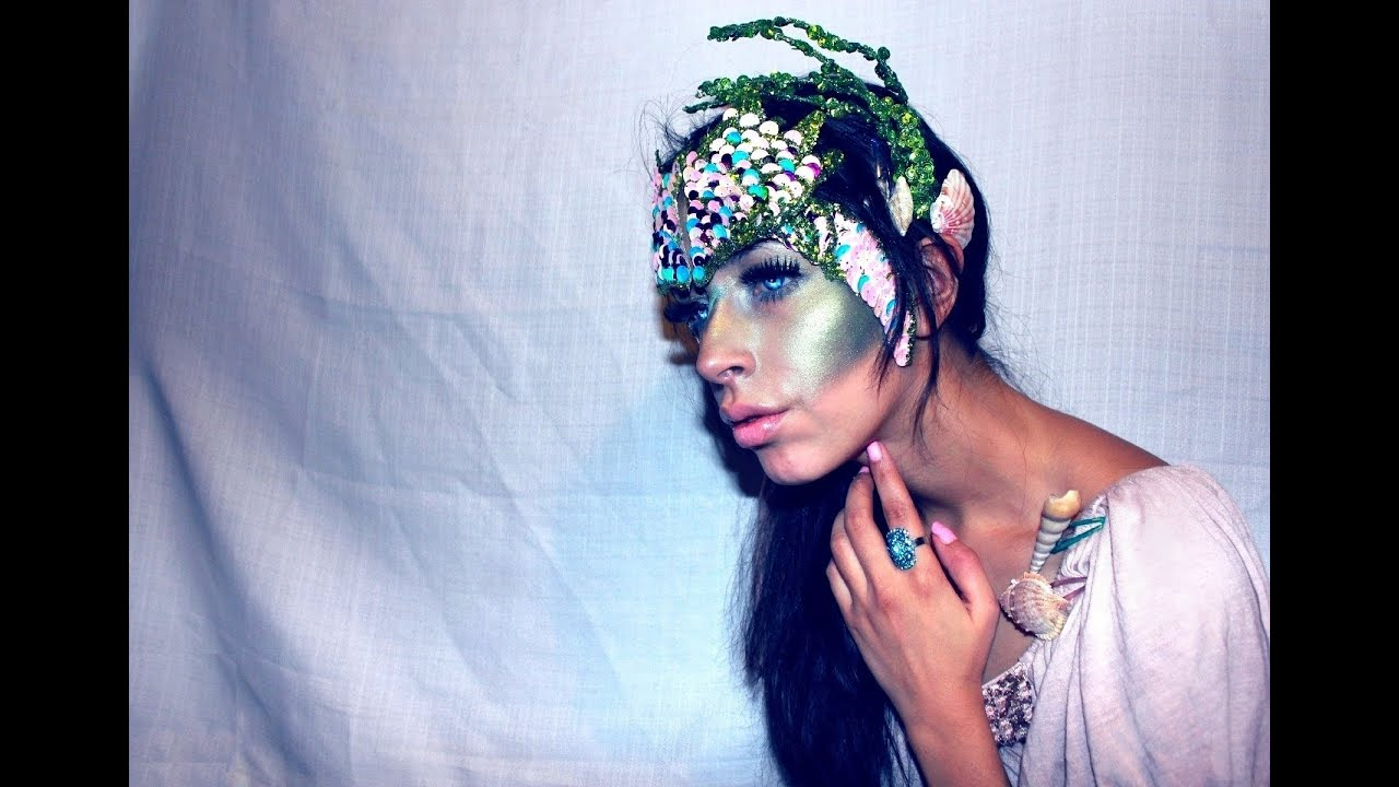 Halloween Makeup Mermaid - YouTube