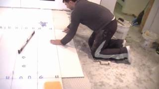 "Watch Me Install 48"" Ceramic Tiles: Professional Tile Setter in Toronto"