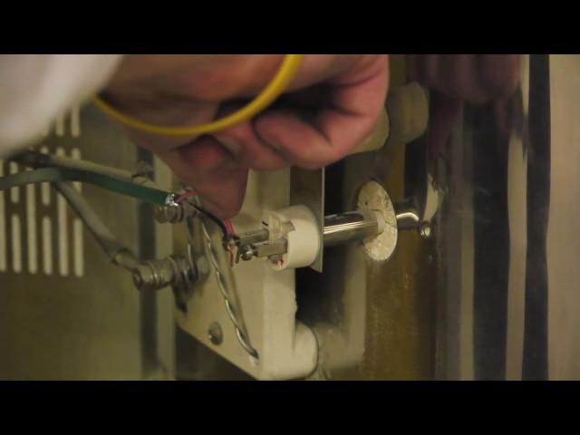 エルエルキルン S型センサー(熱電対)の交換