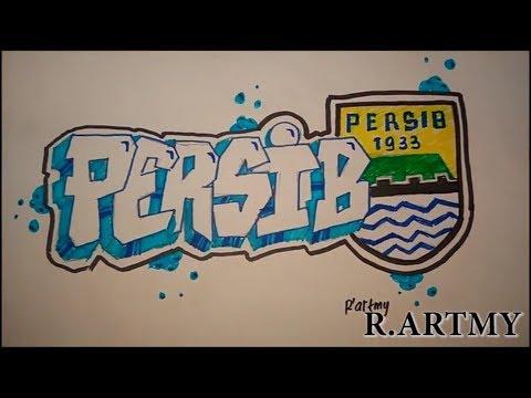 Cara Membuat Grafiti Persib Bandung Youtube