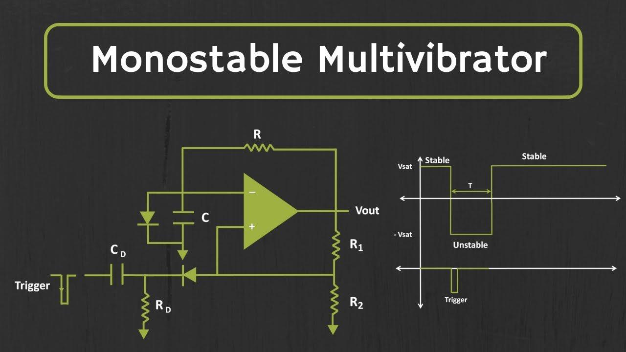 Multivibrator Bistabe Using 555 Timer Working Animation