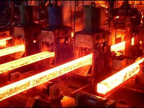 steel Billet cutting in the continuous casting machine