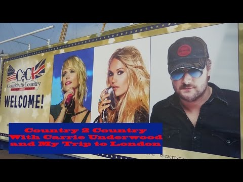 Country 2 Country 2016 With Carrie Underwood and My Trip to London | Traveling Purple