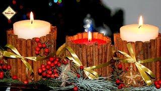Новогодний декор. Новогодние свечи своими руками. Как украсить новогодний стол. Моя Dolce vita