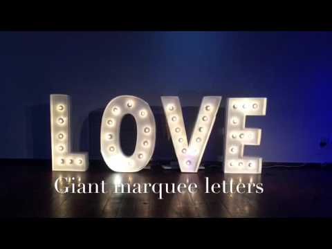 diy giant marquee letters youtube