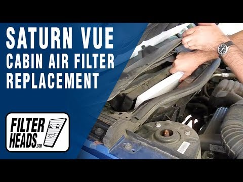 How To Replace Cabin Air Filter Saturn Vue Youtube