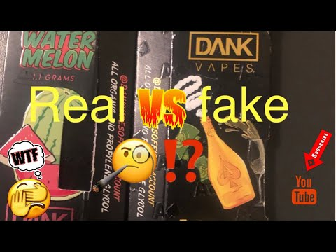 Real Vs  Fake Dank Vapes (Review) - YouTube