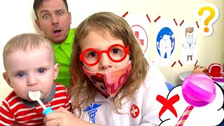 Pretend Play Going to the Dentist | Kids Eat Candy and Brush Teeth by Five Kids