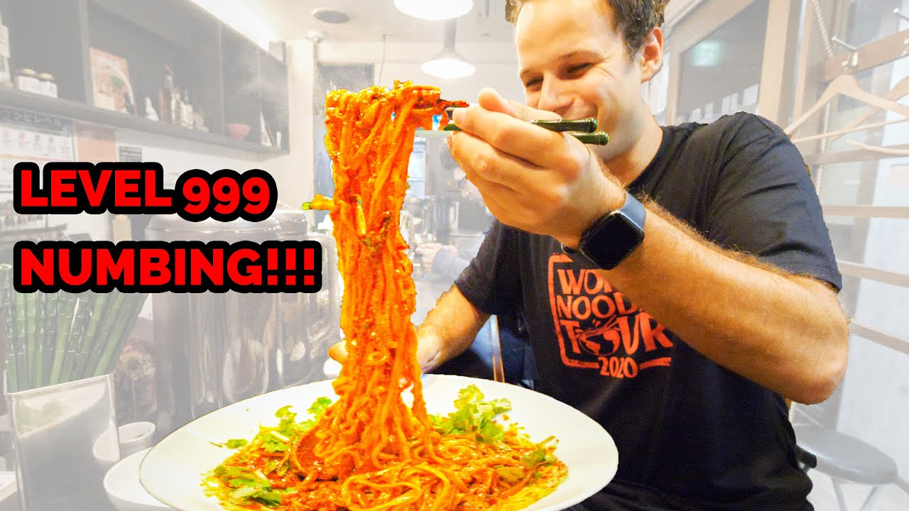 Japanese Street Food LEVEL 999 NUMBING Spicy Dan Dan Noodles (DEADLY) + Ramen Tour of Sapporo, Japan