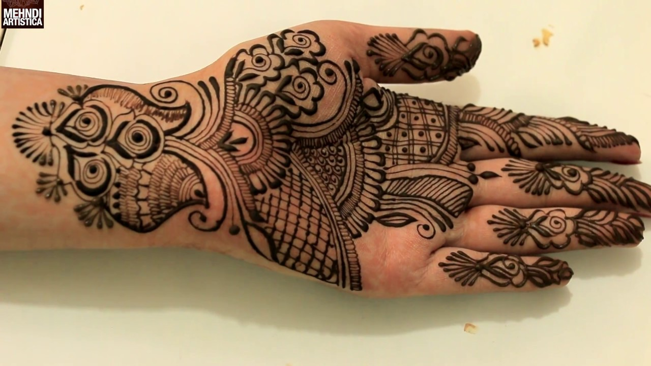 Elegant Henna Designs: Easy Roses Pattern Henna Mehndi Designs For Beginners