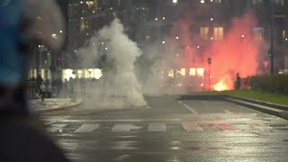 Protesters clash with police over anti-virus curbs in Italy
