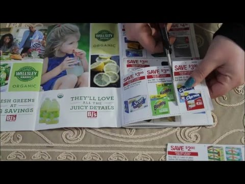 ASMR Coupon Clipping While Chatting ~ Apr17